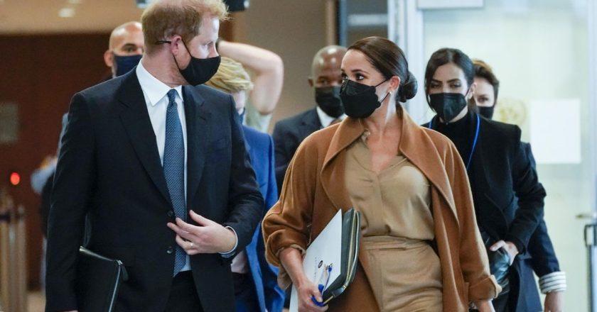 Harry and Meghan visit U.N. during world leaders' meeting